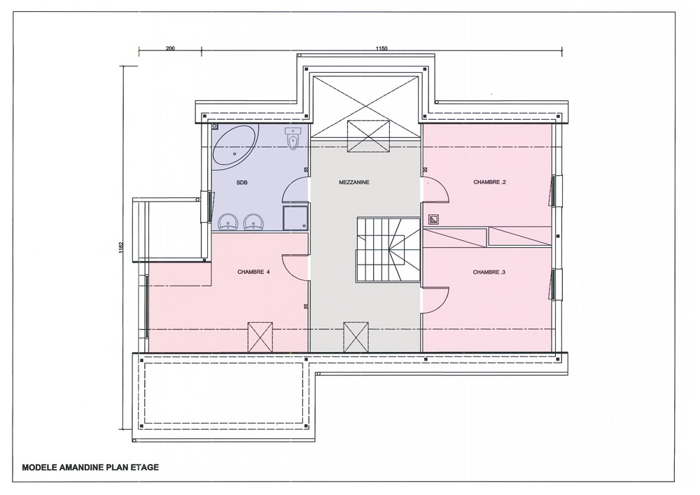 Finest plan with modele maison familiale for Modele maison familiale